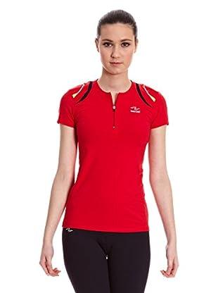 Naffta Camiseta Running (Rojo / Negro)