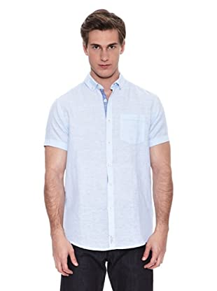 Springfield Camisa Verano Ba Lino S/S (Azul Claro)