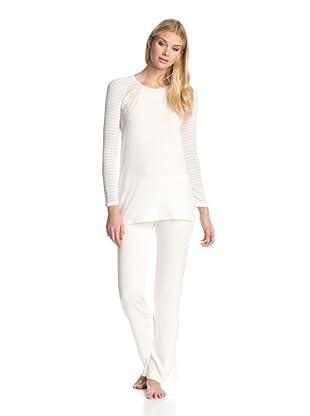 Valery Sleepwear Women's Biancaneve 2-Piece PJ Set (Latte)