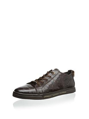 Dino Bigioni Men's Ostrich Sneaker (Brown)