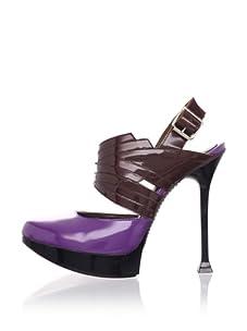 MARNI Women's Platform Slingback Pump (Purple Coffee)