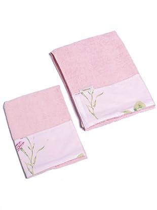 Sanderson Set 2 Spugne Fiori Windsor rosa