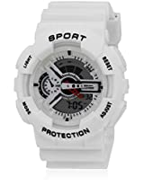 Fs208-Wh01 White/White Analog & Digital Watch