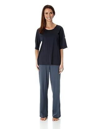 Hanro Shirt 3/4 Arm Holiday (Mitternachtsblau)