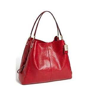 Coach Madison 26224 Leather Small Phoebe Shoulder Bag Handbag Scarlet Red