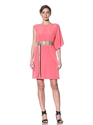 Chetta B Women's Shoulder Drape Dress (Pink)