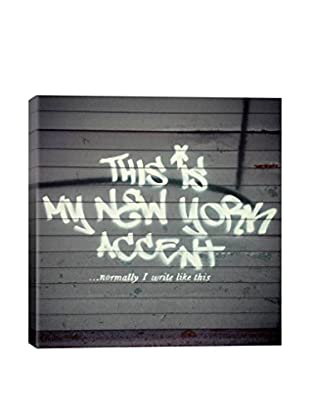 Banksy This Is My New York Accent Gallery Wrapped Canvas Print