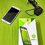 Brand new White Moto X Play 16GB Mobile + 64 GB Memory Card