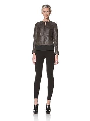 HARE + HART Women's Davis Leather Jacket (Coffee)