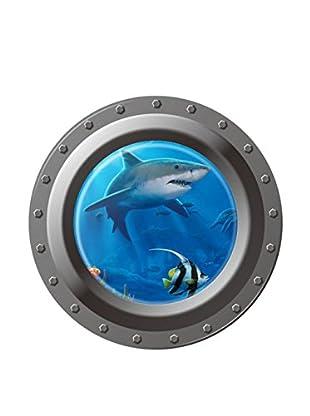 LO+DEMODA Wandtattoo Tiburón 3D