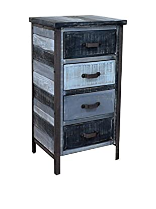 Gallerie Décor Soho 4-Drawer Chest, Shades of Black