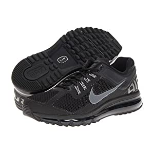 Nike Mens Air Max+ 2014 Black Dark Grey Sneakers