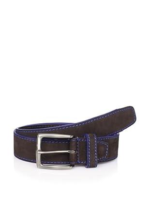 Bolliver Men's Contrast Stitching Belt (Brown/Blue)