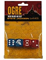 Ogre Red/Blue D6 Set Board Game
