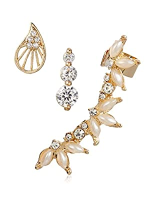 Jules Smith Pearl & Rhinestone Earring Set of 3