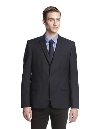 Versace Collection Men's Tonal Check Sportcoat (Navy)