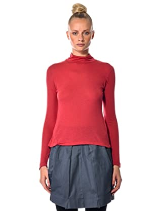 Eccentrica Camiseta Cuello Alto (Rojo)