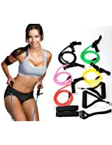 11pcs Set Latex Resistance Band for Yoga, fitness, exercise, Pilates, Cross fit