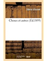 Choses Et Autres (Litterature)