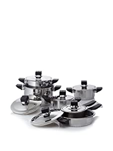 BergHOFF Jupiter 12-Piece Stainless Steel Cover Cookware Set