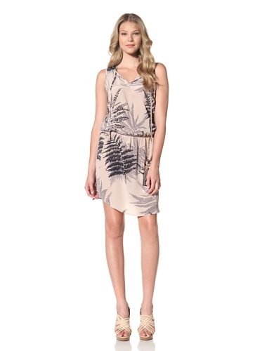 Akiko Women's Chain Belted Tunic Dress (Desert Palm)