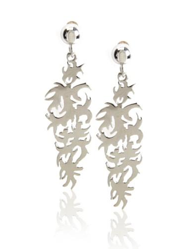 Catherine Angiel Silver Vine Earrings