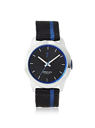 Johan Eric Men's JE1400-04-007.3 Naestved Black/Blue Striped Canvas Watch