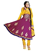 atisundar Charismatic Pink Embroidered Anarkali- 4125_39_305