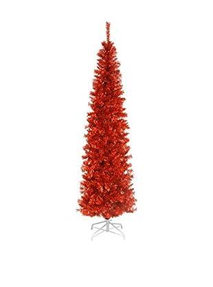 National Tree Company 6' Red Tinsel Tree