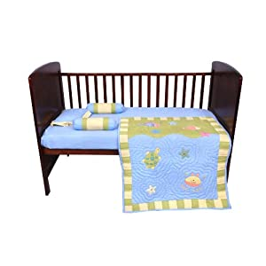 Blooming Buds Sea Creatures 5 Piece Cot Set ( Blue )