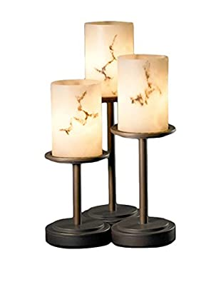 Justice Design Group LumenAria Dakota Table Lamp, Dark Bronze/Alabaster