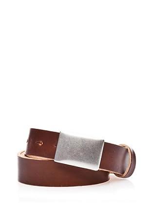 Dockers Cinturón de Cuero con Cierre de Placa (marrón)