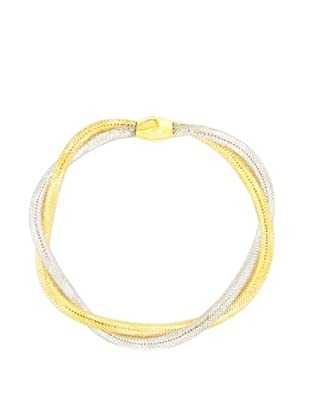 Gold & Diamond Pulsera Flex Bicolor