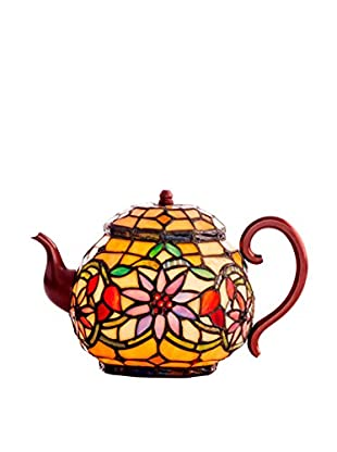 River Of Goods Stained Glass Teapot Accent Lamp, Multi