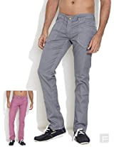 Wrangler Two In One Reversible Jeans -Light Grey-36