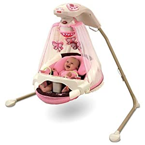 FISHER PRICE BUTTERFLY CRADLE N' SWING BABY BRAND NEW..
