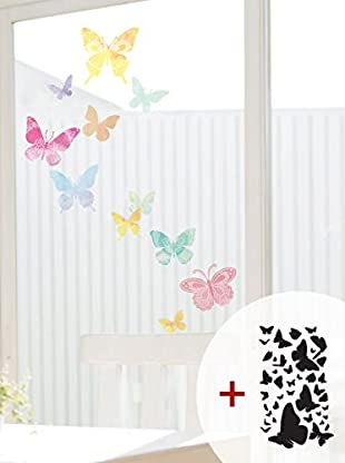 Ambiance Live Wandtattoo Artistic butterflies mehrfarbig