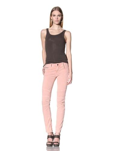 Rockstar Women's Biker Twill Pant (Salmon Pink)