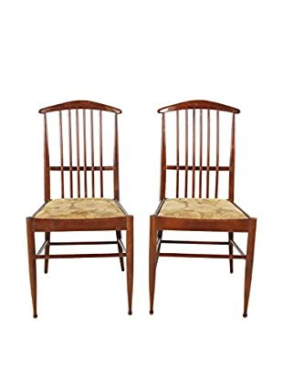 Pair of Scandinavian Rosewood Chairs, Brown/Beige