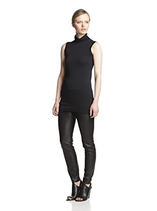 Rick Owens Lilies Women's Ruched Collar Top (Black)