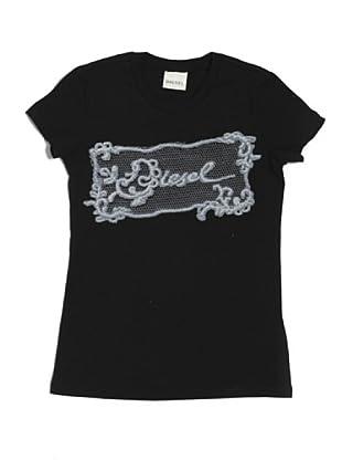 Diesel Kid T-Shirt Junior Tivinu (Schwarz)