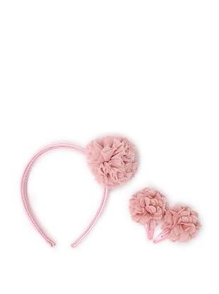 Liliella Pink Headband and Hairclip Set