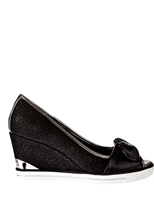 Guess Bags & Accessories Cuña Peep Toe (negro)