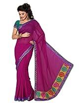 Deepika Saree Sari (Rani Pink_G-38)