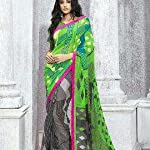Green Georgette Saree With blouse piece