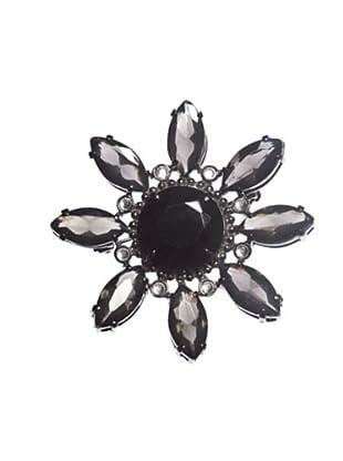 Pertegaz Broche Flor Negro