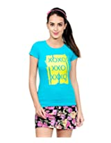 Yepme Women's Blue Cotton Tops YPMTEES5035_L