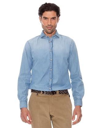 Pedro Del Hierro Camisa Denim Desgastado (Azul)