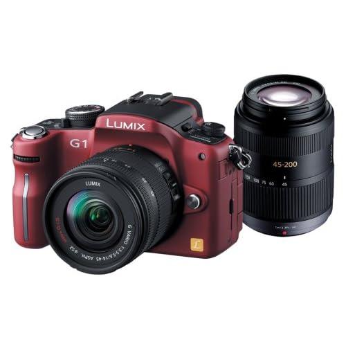 Panasonic デジタル一眼レフカメラ LUMIX (ルミックス) G1 Wレンズキット コンフォートレッド DMC-G1W-R