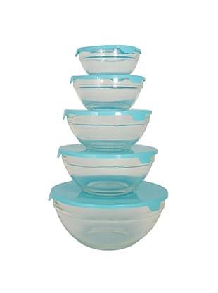Vip4Vip Set De 10 Bowls De Vidrio Con Tapa